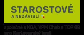 logo STAN – Starostové a nezávislí společně s KOA, VPM Cheb a TOP 09