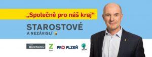 logo STAROSTOVÉ (STAN) s JOSEFEM BERNARDEM a podporou Zelených, PRO Plzeň a Idealistů